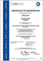 FSSC Certificate: Food safety with a system